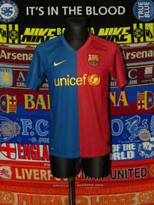 4/5 Barcelona adults S 2008 home football shirt jersey trikot Barca
