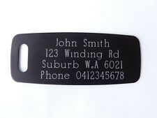 Luggage Tags Traditional Deep Engraved