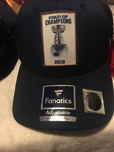 NHL Fanatics St. Louis Blues 2019 STANLEY CUP CHAMPIONS Hat/Cap - NEW