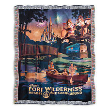 Disney, Fort Wilderness Resort and Campground Tapestry Woven Throw, MADE IN USA