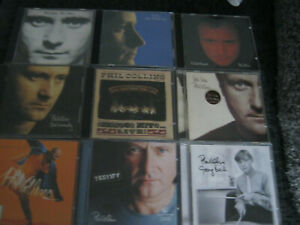 Phil Collins 9 CDs face value no jacket both sides but seriously going back