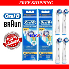 8 ORIGINAL BRAUN ORAL-B PRECISION CLEAN ( +29% ) TOOTHBRUSH REPLACEMENT HEADS