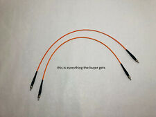 TWO 600um Optical Fiber Cables That Fit Ocean Optics Spectrometers & Many Others