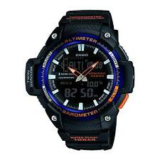Casio Sgw450h-2b Altimeter Barometer Thermometer Resin Watch 5 Alarms