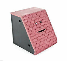 FaceBank Electronic Coin Eating Money Box Fun Japan Gift Red Brick Face Bank NEW
