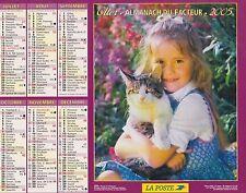 CALENDRIER ALMANACH des postes PTT 2005 chat & chien