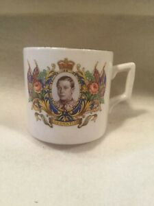 Vintage Coronation Tea Cup Small Royal Mug 12th May 1937 King George VI
