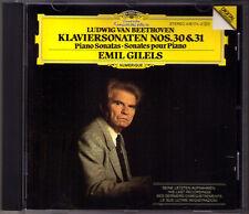 Emil GILELS: BEETHOVEN Last Recording Piano Sonata No.30 31 DG CD Klaviersonaten