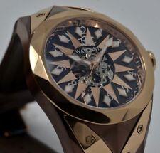 New Watchstar Super Star Cigar Brown Automatic Stealth Fighter Jet Case Watch