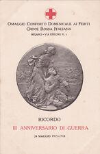 WWI - III Anniversario di Guerra 1915-18 - Croce Rossa Italiana, Milano