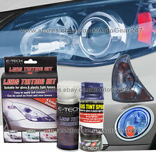 E-Tech Bike Car Glass Plastic Rear Tail Lamp Lens Blue Tint Tinting Spray Kit