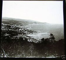 ROSCH Glass Magic lantern slide SAN REMO PANORAMA C1900 ITALY RIVIERA