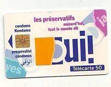 carte telephonique france telecom - telecarte 50 unités - preservatifs