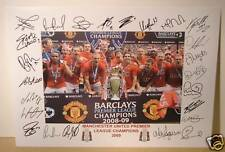 MANCHESTER UNITED 2009 Premiership Fully signed Print