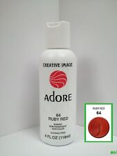 CREATIVE IMAGE ADORE SEMI PERMANENT HAIR COLOR #64 RUBY RED 4oz