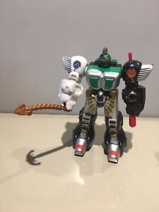 Bandai Power Rangers Mini Wild Force Megazord Working, & Complete With Weapons