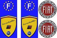 2 adhésifs FIAT BARCHETTA pour plaque immatriculation + 2 logos offerts