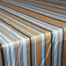 Tessuto al 1/2 metro per Abbigliamento Rasatello Righe Colorate Beige Alt.140cm