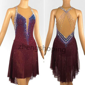 New Ice Skating Dress Competition  Twirling Figure Costume 86214