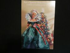 """Vintage Barbie Paper Doll Christmas Greeting Card """"For A Special Granddaughter"""""""