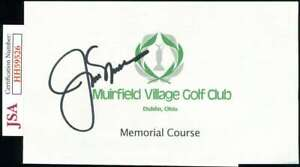 Jack Nicklaus JSA Coa  Signed Golf Scorecard Autograph