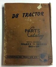 1948 CATERPILLAR D8 TRACTOR PARTS CATALOG CATTERPILLAR TRACTOR CO.