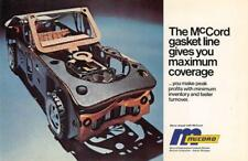 MCCORD GASKET LINE Detroit, MI Car Parts Advertising ca 1970s Vintage Postcard