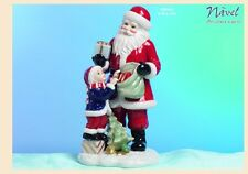Babbo Natale con bambino in porcellana Navel by Paben