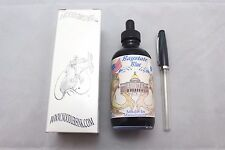 NOODLERS INK 4.5 OZ BOTTLE BAYSTATE BLUE WITH CHARLIE FOUNTAIN PEN