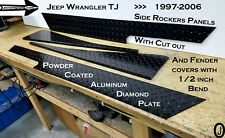 Jeep Wrangler TJ Black Aluminum Diamond Plate With cut out Rockers & Fender Bend