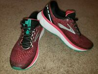 Brooks Women's Ghost 11 Black/Pink/Aqua Running Shoes - Size 9.5