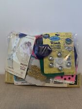 Vintage Lot of Sewing Supplies, Buttons, Clasps, a Zipper, and etc. INCOMPLETE