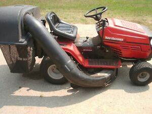 yard machines riding mower by mtd with bagger