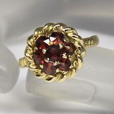 Ring mit Granat Besatz in 750/18K Gelbgold