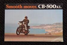 Genuino 1972 Honda 500 CB-500 K1 Moto Sales Folleto Muy Bueno Forma