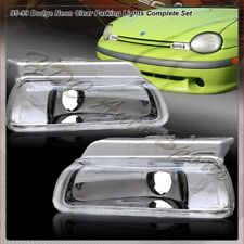 For 1995-1999 Dodge Neon/Plymouth Chrome/Clear Lens Front Parking Bumper Lights