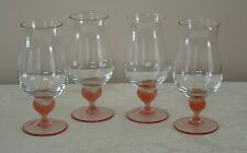 4 MIKASA ICED TEA GLASSES SEA MIST CORAL (MORE AVAILABLE) FROSTED