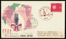 JAPAN FDC 1960 COVER RADIO SERVICE kkm81273
