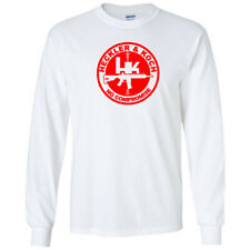 Heckler Koch No Compromise Red Logo Long Sleeve Shirt 2nd Amendment Pro Gun Tee