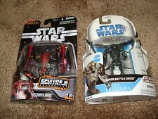 "STAR WARS (LOT OF 2)""SUPER BATTLE DROID-SAGA LEGENDS & DESTROYER DROID-HEROE-VIL"