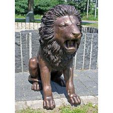 Bronzeskullptur großer sitzender Löwe, Wunderschöne Dekoration für ihren Garten
