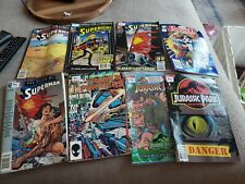 Lot Of 8 Comic Books Death Of Superman Transformers Jurassic Park