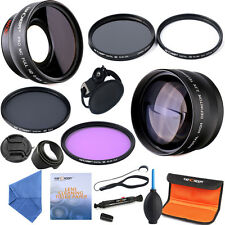 52mm 0.45x Wide Angle 2.2x Telephoto Lens Slim UV CPL FLD ND4 Filter for Nikon