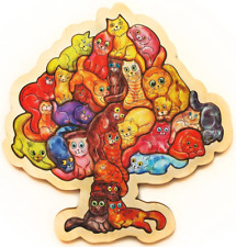puzzle Jigsaw 29 wooden Pieces Cattree New russian best gift eco friendly DIY