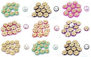 Craft Costume Design Crafts Embroidered Poly Dupion Zari 2 Holes Sewing Button
