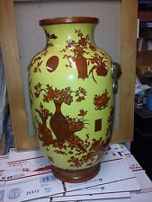 "China Antique Pastel eight treasures on yellow glaze Vases High 23"" !!!"