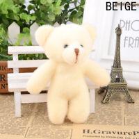 Small Mini Teddy Bear Stuffed Animal Doll Plush Soft Toy Kids Gift Novelty HDD