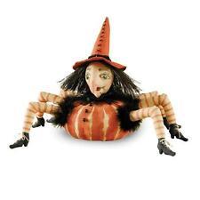 67125 Esmeralda Pumpkin Spider Witch Doll Joe Spencer Halloween Decoration Scary