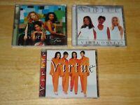 VIRTUE (3) THREE CD LOT FREE VIRTUOSITY! SELF TITLED