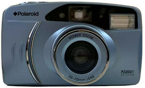 Polaroid Camera PZ2001 Power 2X Zoom 35mm Compact Film Works FOR PARTS